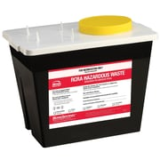 Bemis RCRA Harzardous Chemical Waste Container, 2 Gallon, Black, Pack of 5 (5002070-5)