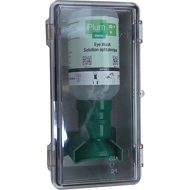 Plum Mini Industrial Saline Eyewash Station, 6.8 oz (46501)