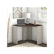 "Bush Furniture Townhill 34"" Corner Desk, Washed Gray/Madison Cherry (TND134WM2-03)"