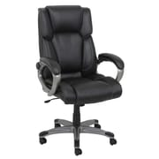 Barcalounger Office Bonded Leather  Executive Chair Black Painted Polpropylene Arms with Upholstery Arm Pad (8065H-MA)