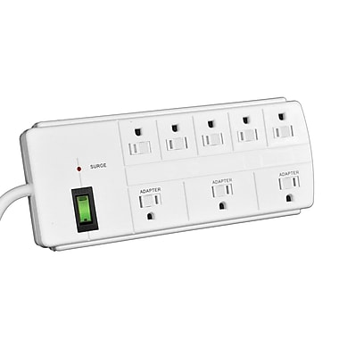 GoGreen Power 8 Outlet Surge Protector, 6' cord, White - GG-18316WH