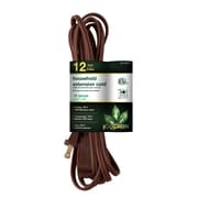 GoGreen Power 16/2 12' Household Extension Cord 3pk, Brown - GG-24812