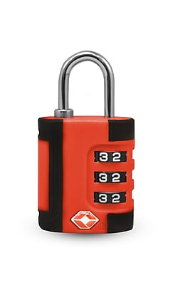 Travergo 3 Digit Two Tone Combination Lock, Red TR1100RD