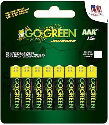 GoGreen Power Alkaline AAA 24pk Batteries
