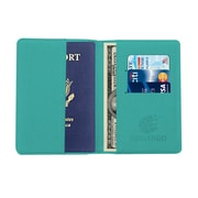 Travergo Canvas Leather Passport Holder, Blue TR1220BL