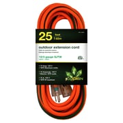 GoGreen Power 12/3 25' Heavy Duty Extension Cord, Lighted End - Orange, GG-14025