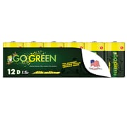 GoGreen Power Alkaline D 12pk Batteries