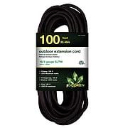 GoGreen Power 16/3 100' Heavy Duty Extension Cord, Black (GG-13700BK)