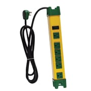 GoGreen Power 6 Outlet Metal Surge Protector, 6' cord, Yellow/Green - GG-26114