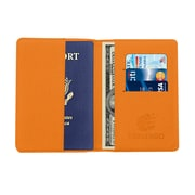 Travergo Canvas Leather Passport Holder, Orange TR1220OR