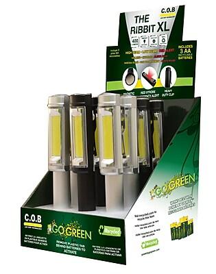 GoGreen Power Ribbit XL Aluminum Pocket Flashlight Display, Assorted Colors - GG-113-RXLDISP