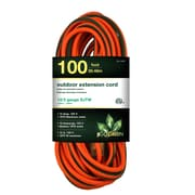 GoGreen Power 12/3 100' Heavy Duty Extension Cord, Lighted End - Orange, GG-14000
