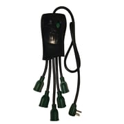 GoGreen Power 5 Outlet Surge Protector, Black - GG-5OCT
