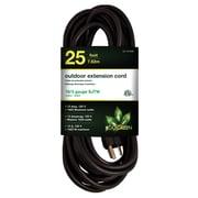 GoGreen Power 16/3 25' Heavy Duty Extension Cord, Black - GG-13725BK
