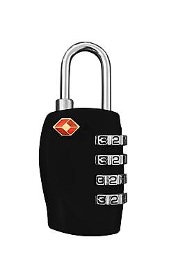 Travergo 4 Digit Combination Lock, Black TR1140BK