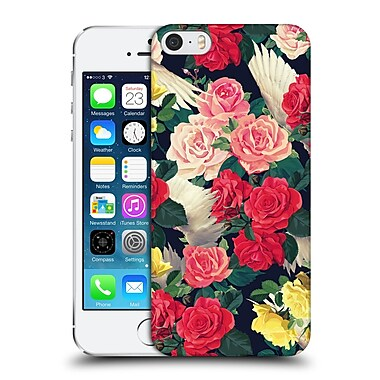 Official Mark Ashkenazi Florals Flowers And Wings Hard Back Case For Apple Iphone 5 / 5S / Se