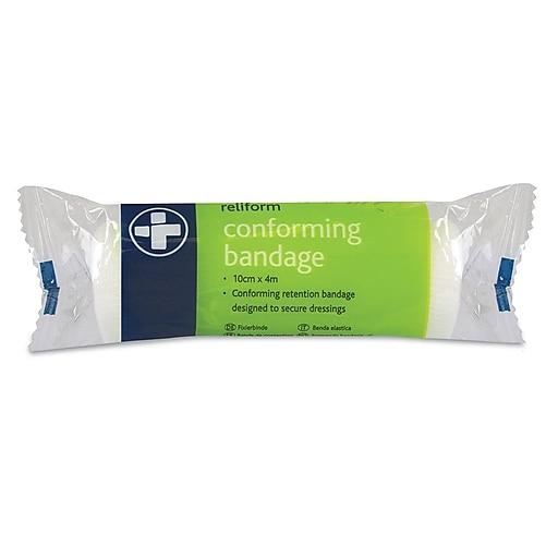 "Reliance Medical Reliform Conforming Bandage, 4"" x 4m, 20 Pack (433-20)"