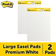 """Post-it® Super Sticky Easel Pad, 25"""" x 30"""", White, 30 Sheets/Pad, 2 Pads/Pack (559)"""