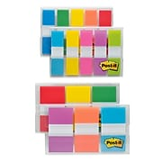 """Post-it® Flags Combo Pack, .47"""" Wide and .94"""" Wide, Assorted Colors, 320 Flags/Pack (683-XL1)"""