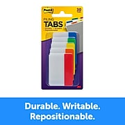 """Post-it® Tabs, 2"""" Wide, Solid, Assorted Colors, 30 Tabs/Pack (686-ROYGB)"""