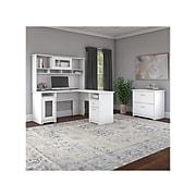 "Bush Furniture Cabot 60"" L-Shaped Computer Desk, White (WC31930K)"