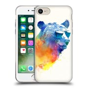 Official Robert Farkas Hipster Animals Sunny Bear Soft Gel Case For Apple Iphone 7