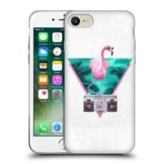 Official Robert Farkas Hipster Animals Miami Flamingo Soft Gel Case For Apple Iphone 7