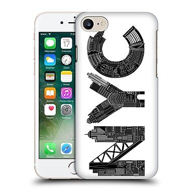 Official Robert Farkas Typography Nyc Hard Back Case For Apple Iphone 7