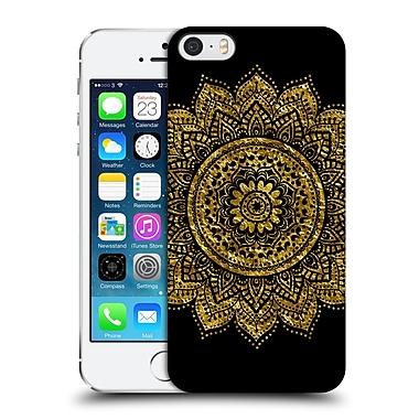 Official Haroulita Black And Gold Mandala Hard Back Case For Apple Iphone 5 / 5S / Se