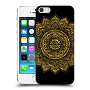 Official Haroulita Black And Gold Mandala Hard Back Case For Apple Iphone 5 / 5S / Se