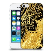 Official Haroulita Black And Gold Petals Hard Back Case For Apple Iphone 5 / 5S / Se