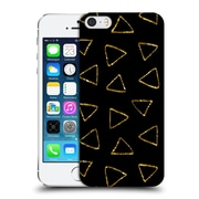 Official Haroulita Black And Gold Triangles Hard Back Case For Apple Iphone 5 / 5S / Se
