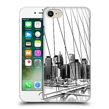 Official Haroulita Black And White New York 1 Hard Back Case For Apple Iphone 7