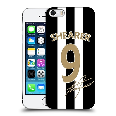 Newcastle United Fc Nufc Retro Badge Collection Alan Shearer Signed Gold Jersey Hard Back Case For Apple Iphone 5 / 5S / Se