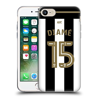 Official Newcastle United Fc Nufc 2016/17 Players Home Kit 2 Diame Soft Gel Case For Apple Iphone 7