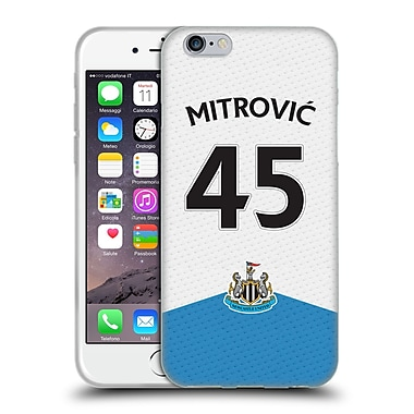 Official Newcastle United Fc Nufc 2015/16 Players Home Kit Aleksandar Mitrovic Soft Gel Case For Apple Iphone 6 / 6S