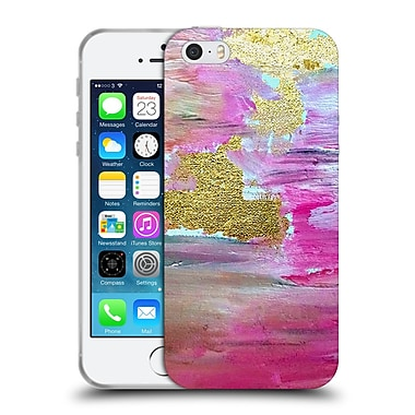 Official Haroulita Glitter Sparkle Pink And Gold Texture Soft Gel Case For Apple Iphone 5 / 5S / Se