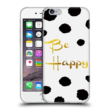 Official Haroulita Black And Gold Be Happy Soft Gel Case For Apple Iphone 6 / 6S