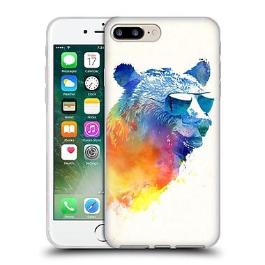 Official Robert Farkas Hipster Animals Sunny Bear Soft Gel Case For Apple Iphone 7 Plus