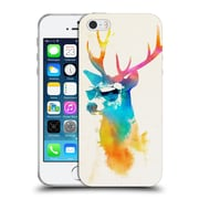 Official Robert Farkas Hipster Animals Sunny Stag Soft Gel Case For Apple Iphone 5 / 5S / Se