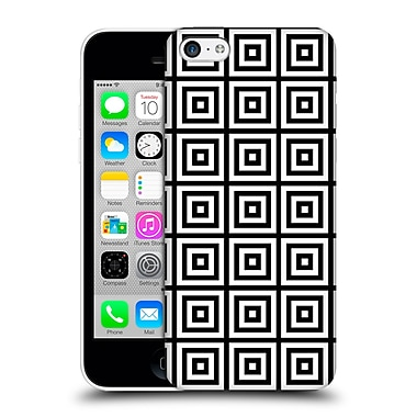 Official Haroulita Monochrome 3D Squares Hard Back Case For Apple Iphone 5C