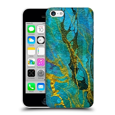 Official Haroulita Marble Yellow Teal Hard Back Case For Apple Iphone 5C