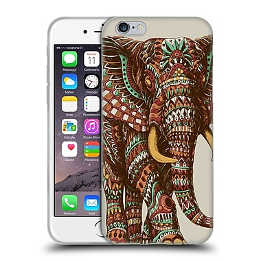 Official Bioworkz Coloured Wildlife 1 Ornate Elephant 2 Soft Gel Case For Apple Iphone 6 / 6S