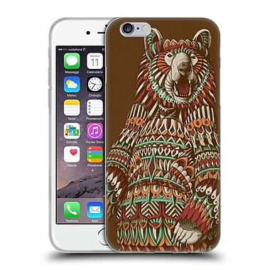 Official Bioworkz Coloured Wildlife 1 Grizzly Bear Soft Gel Case For Apple Iphone 6 / 6S