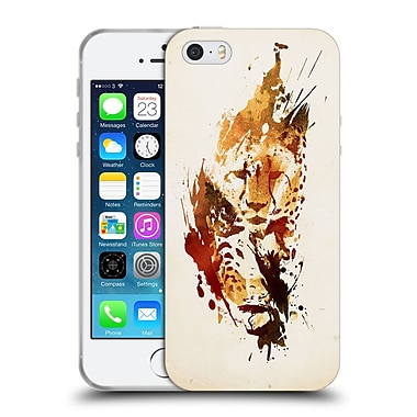 Official Robert Farkas Animals 2 El Guepardo Soft Gel Case For Apple Iphone 5 / 5S / Se