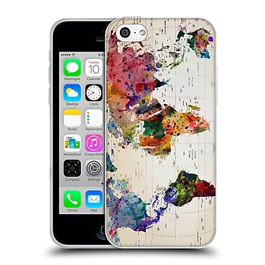 Official Mark Ashkenazi Pop Culture Map Of The World Soft Gel Case For Apple Iphone 5C