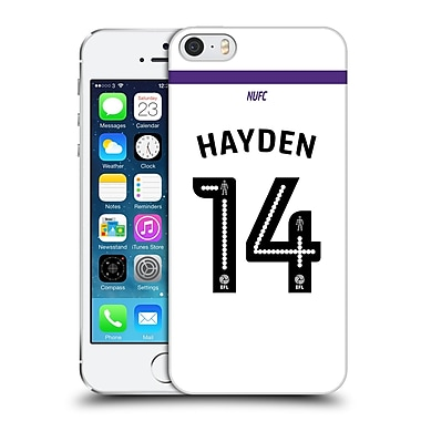 Official Newcastle United Fc Nufc 2016/17 Players Third Kit 2 Hayden Hard Back Case For Apple Iphone 5 / 5S / Se