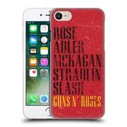 Official Guns N' Roses Vintage Names Hard Back Case For Apple Iphone 7