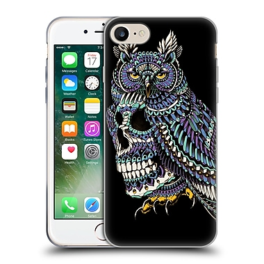 Official Bioworkz Coloured Skulls 1 Great Horned Soft Gel Case For Apple Iphone 7