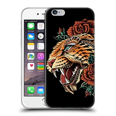 Official Bioworkz Coloured Animal Head 1 Ornate Leopard Soft Gel Case For Apple Iphone 6 / 6S